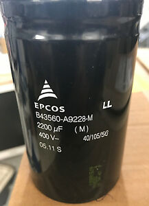 1-x-B43560A9228M-2200uf-400v-Electrolytic-Capacitors-Screw-Terminal