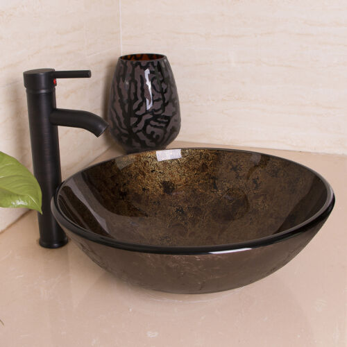 glass bowl sink installation bathroom vessel single vanity with basin oil rubbed bronze faucet