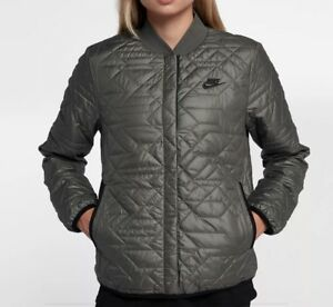 9038b8e7a6aa Image is loading Nike-Womens-Sportswear-Quilted-Primaloft-Jacket-River-Rock-