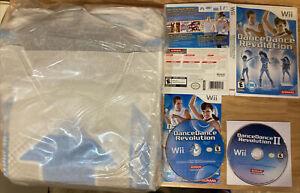 Dance Dance Revolution 1 + II Nintendo Wii 2 Game Bundle with Dance Pad Mat Fun
