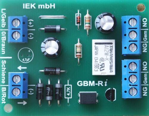 gleisbesetztmelder mit relais impuls gbm r i elektronisches schaltgleis