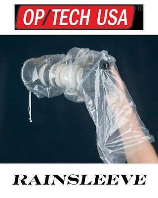OP/TECH RAINSLEEVE DSLR DIGITAL CAMERA RAIN COVER PACK 2 HAND HELD OR TRIPOD