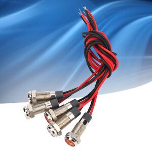 5Pcs-Lampada-a-LED-ad-alta-luminosita-IP66-6mm-LED-Spia-e-filo-di-metallo