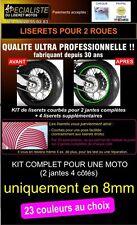 LISERET JANTE STICKER AUTOCOLLANT MOTO TOUTES MARQUES 8mm expédié en24h 40colors