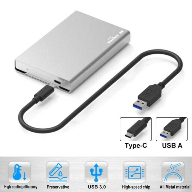 USB3.1 Type C to SATA III Rugged Hard Drive Enclosure ElecGear 2.5 inch USB C