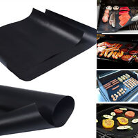 Lot of 2 Mats Easy BBQ Grill Mat Bake NonStick Grilling Mats USA Free Ship New