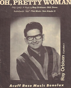 ROY-ORBISON-OH-PRETTY-WOMAN-SHEET-MUSIC-HOLLAND-1964