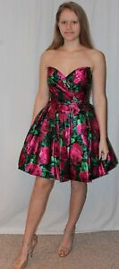 9ec0167db2d3365 NWT Sherri Hill 50580 Black/Fuchsia floral Print size 4 short formal ...