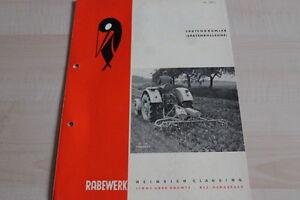Prospekte 144128 Rabewerk Spatenkrümler Spatenrollegge Prospekt 05/1961