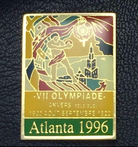 Belgium 1920~1996 Atlanta~NEW on CARD Olympic Pin Badge~Poster Pin~Antwerp
