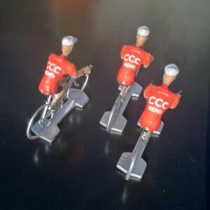 3-cyclistes-miniatures-Tour-de-france-Cycling-figure-Team-CCC