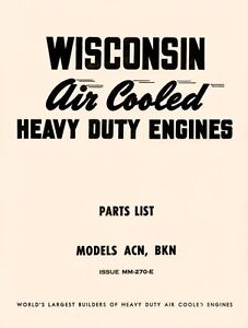 WISCONSIN-ACN-and-BKN-Air-Cooled-Engine-Parts-Manual