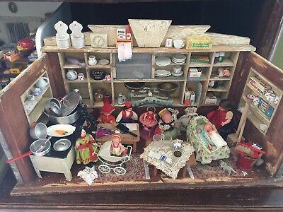Alte Puppenstube Kaufladen Reich Bestückt Puppenladen Auf Dem Internationalen Markt Hohes Ansehen GenießEn