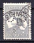 Australia 1915 Kangaroo 2d Grey 2nd Wmk Perf OS - Listed Variety.