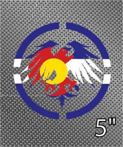 Colorado State Flag Never Summer Snowboard Vinyl Die Cut - Custom die cut vinyl stickers snowboard