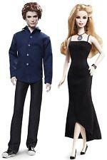 New! Barbie Collector Twilight Saga Dolls Set Of 2 Rosalie & Jasper