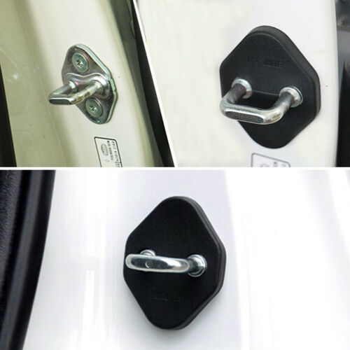 4PCS FIT FOR 2016 CIVIC DOOR LOCK COVER BUCKLE CATCH PROTECTOR CHECKER CASE CAP