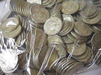 $7.00 Face Value 90/% Silver Quality Junk Quarters Survival Money.Pre 1965