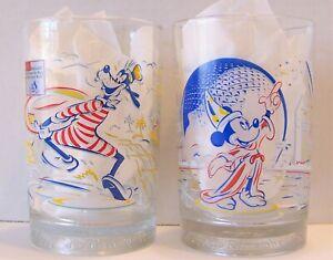 McDonalds Walt Disney World Remember The Magic 25th Anniversary Glasses Set of 2