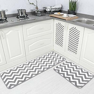 2 Pieces Microfiber Chevron Non-Slip Soft Kitchen Mat Bath Rug Doormat  Runner 713893360020   eBay