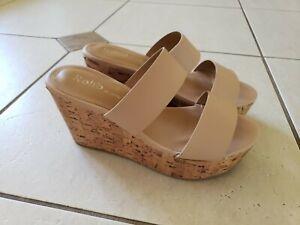 Rohb Wedge Slide Sandals Size 7