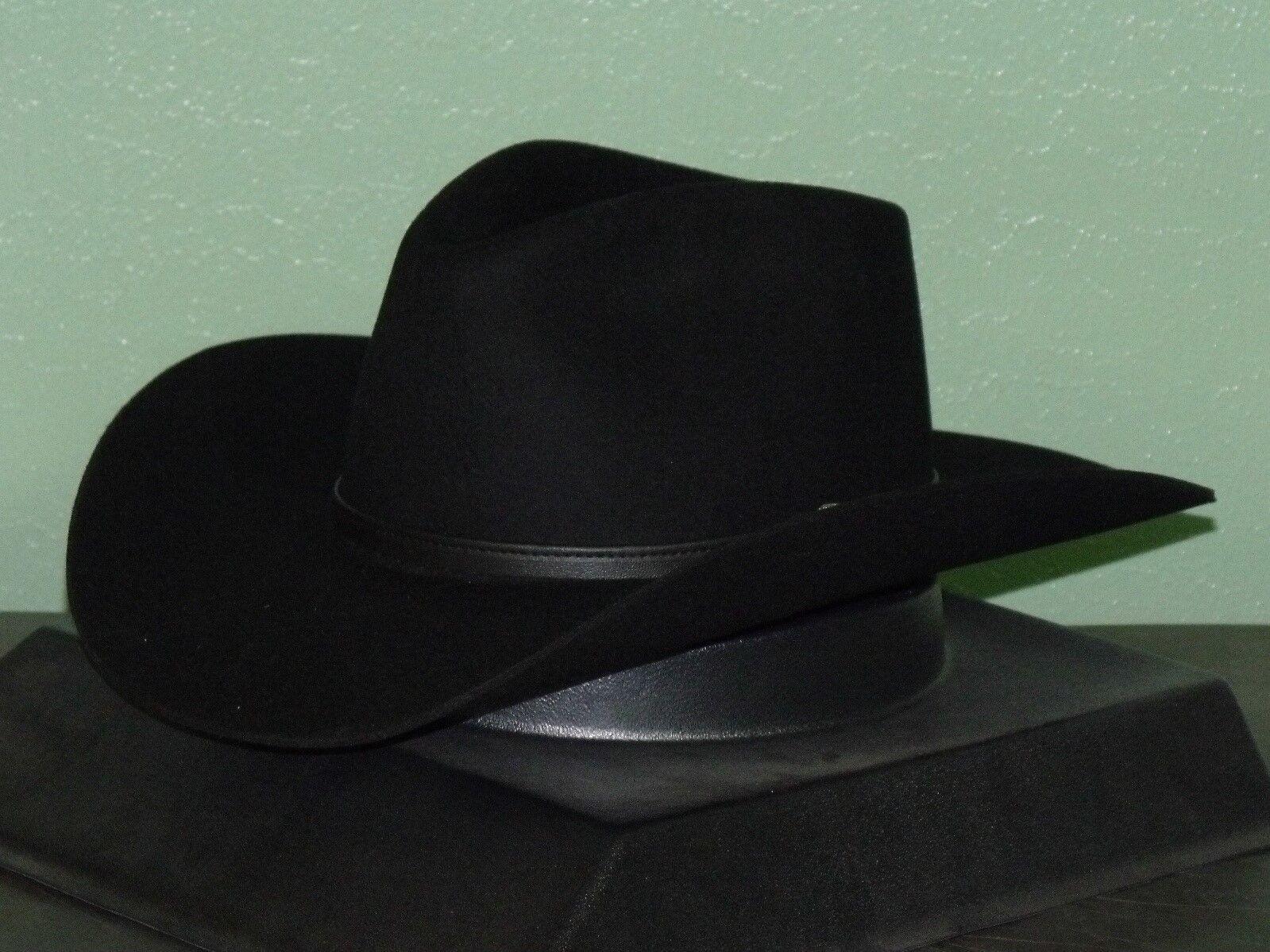 b2eebe05880 Stetson 4x Buffalo Felt Seneca Cowboy Western Hat 7 1 2 Black for ...