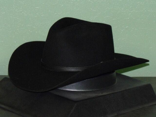 496b3d16 Stetson 4x Buffalo Felt Seneca Cowboy Western Hat 7 1/2 Black for ...