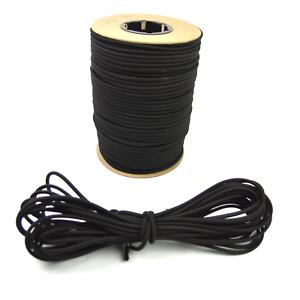"500ft 1//4/"" Black Shock Cord Marine Grade Bungee Heavy Duty Tie Down Stretch Rope"