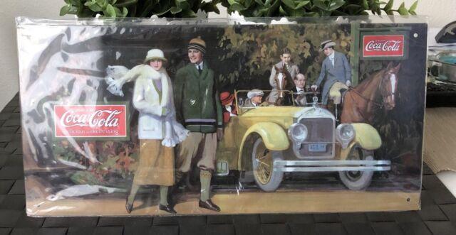 Coca Cola Coke Metal Tin Sign Plaque Licence Winter Horse Car New Advertising
