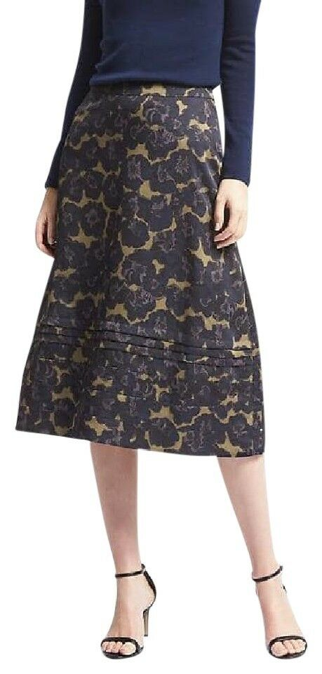 118 BANANA REPUBLIC blueE FLORAL SKIRT sz 2 NWT