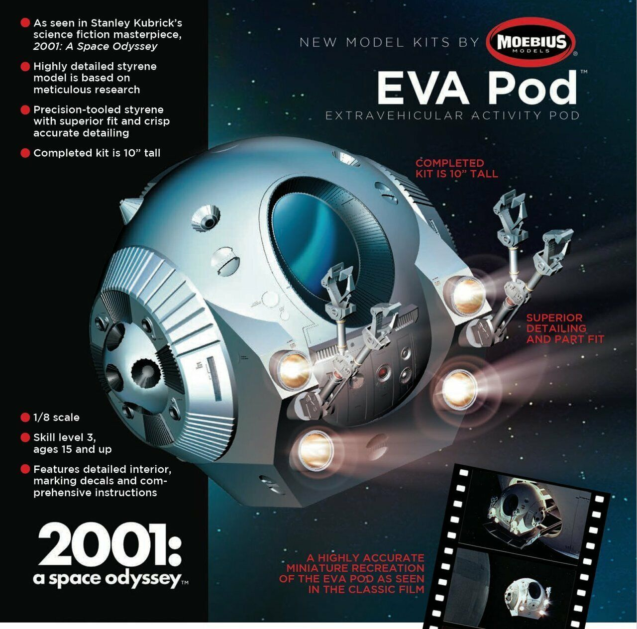 2001  A SPACE ODYSSEY - EVA Space Pod 1 8 scale Moebius Models