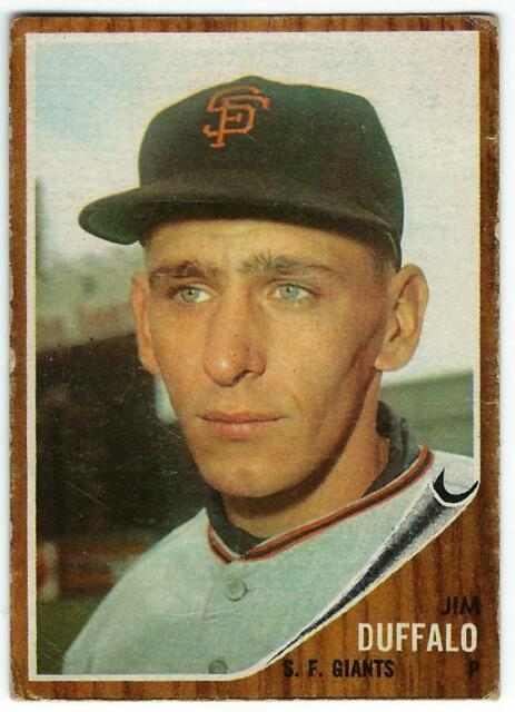 1962 Topps Baseball High Number # 578 Jim Duffalo (San Francisco Giants)