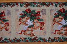 "CHRISTMAS FESTIVE BELLS WITH TASSELS TABLE RUNNER 33cm x 181 cm (13"" X 71"")"