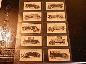 1923-Lambert-amp-Butler-MOTOR-CARS-Cadillac-series-2-complete-set-cards-Tobacco