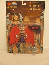 """Lightning Comics Sisters of Darkness Letha 6"""" Action Figure Weapons and Stand"""