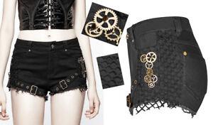 Spike Bronzo Steampunk Zip Shorts Fishnet Ferrules Gothic Lolita Punkrave Punk qqXaH