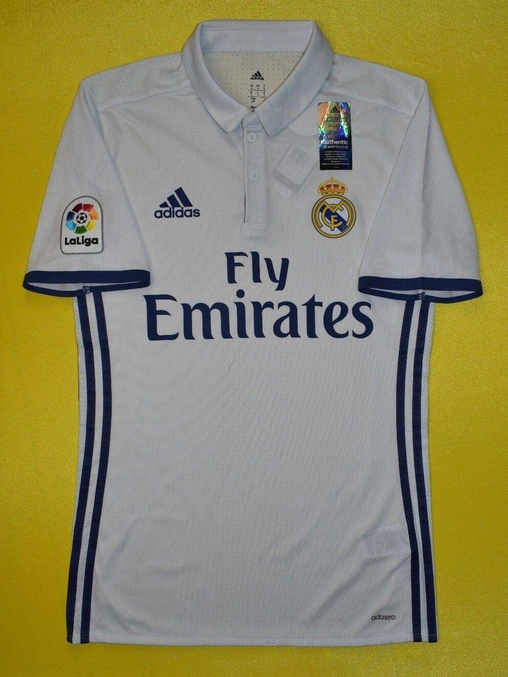 f41736d7dc8 4.8 5 REAL MADRID 20162017 FOOTBALL JERSEY SHIRT ADIZERO PLAYER ISSUE ADIDAS