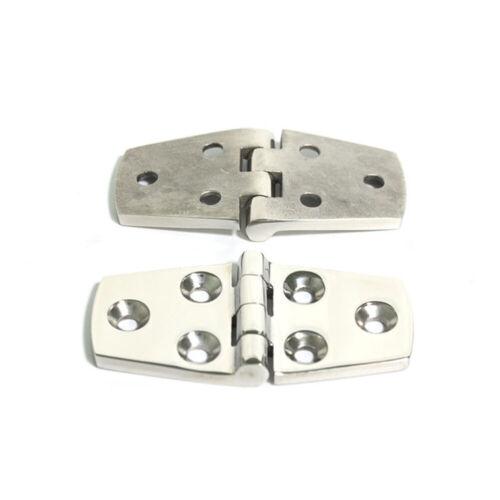 "2pcs Marine Boat 316 Stainless Steel Strap Hinge 3/"" x 1.5/"" Hinges Door Hardware"