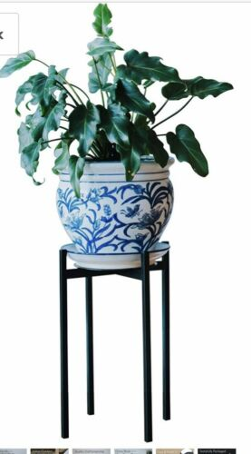 """•Ebony• TALL~ Mid Century Plant Stand Indoor//Outdoor Flower Pot Stands 15"""" tall"""