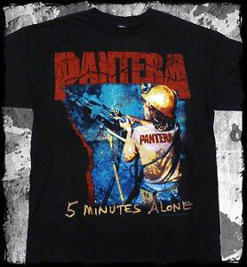 New-PANTERA-5-Minutes-Alone-Black-Metal-Concert-T-Shirt