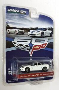 Greenlight-1-64-Scale-2013-Chevrolet-Corvette-Z06-60th-Annversary-Edition-White