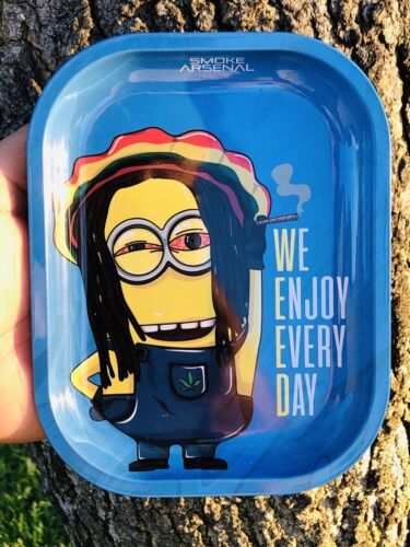 """METAL ROLLING TRAY 5.5X7/"""" WE ENJOY EVERY DAY EDITION  SMOKE ARSENAL COLLECTIBLE"""