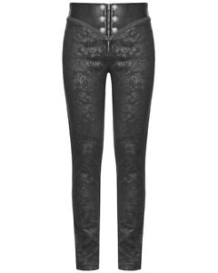 P.H Mens Trousers Pants Black Brocade Steampunk VTG Gothic Aristocrat