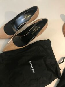 Size Saint Laurent Worn 10 Nude Pumps Once qq4tZ