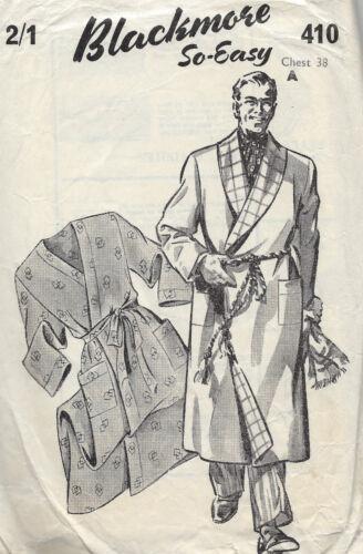 "38/"" para Hombre Bata//batones 1940s Vintage Sewing Pattern Pecho 1284"