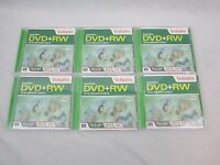 Dvd+rw Lot Of 6 Verbatim Discs Rewritable 4.7 Gb 120 Min. Movie, Video, Images