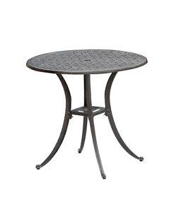 Aluminium-Guss-Tisch-Rocco-80cm-rund-bronze