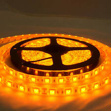 Waterproof Yellow Amber 12V 5M 5050 SMD 300 LED Led Strip Lights Camping Caravan
