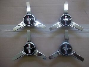 OEM Wheel Center Cap Set of 4 LH RH Front /& Rear Spinner Style for Ford Mustang