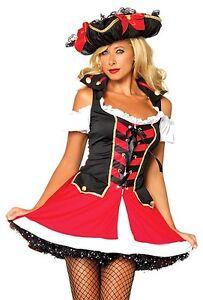 Image is loading Aye-Aye-Admiral-Sailor-Costume-Leg-Avenue-83625-  sc 1 st  eBay & Aye Aye Admiral Sailor Costume Leg Avenue 83625 Adult Size XS S/M ...